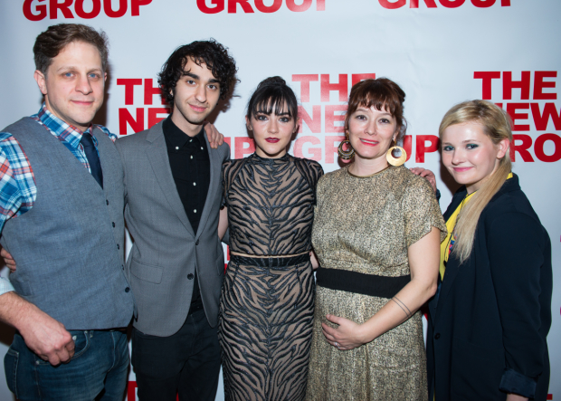 Joe Tippett, Alex Wolff, Isabelle Fuhrman, Erica Schmidt, and Abigail Breslin celebrate opening night of their world premiere production of All the Fine Boys