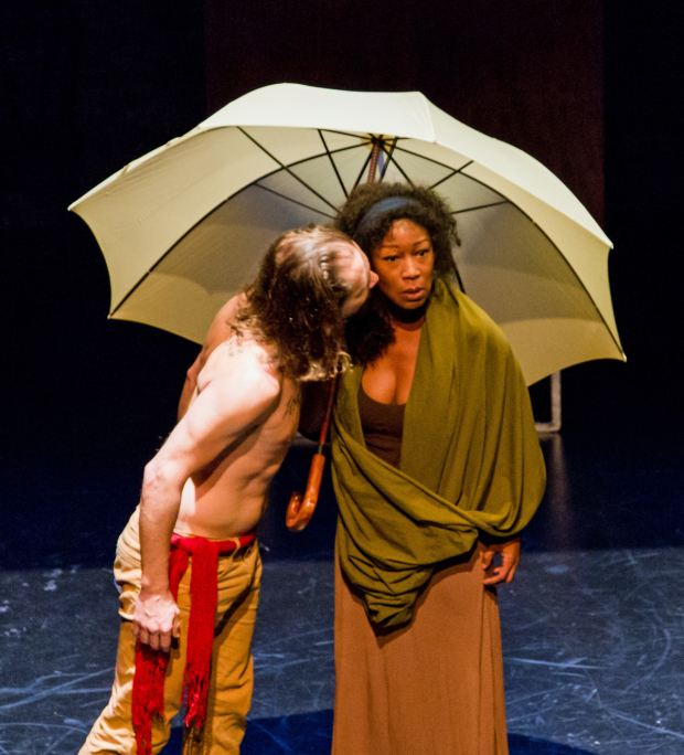 Michael Billingsley as Jesus and Joanna Rhinehart Henrietta Iscariot in The Last Days of Judas Iscariot.
