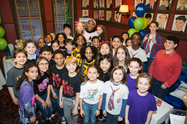 Broadway's kids celebrate the 21st Birthday of Kids Night on Broadway at Sardi's Restaurant.