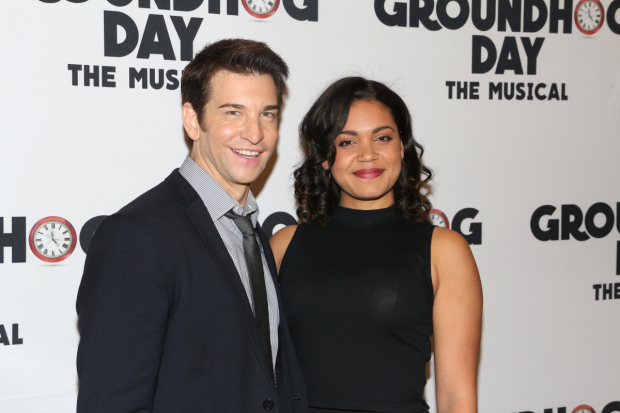 Groundhog Day costars Andy Karl and Barrett Doss will lend their voices to the musical's Original Broadway Cast Album.