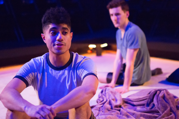 Fernando Gonzalez and Will Sarratt star in Noah Mease's Omega Kids, directed by Jay Stull, for New Light Theater Project at the Access Theater.