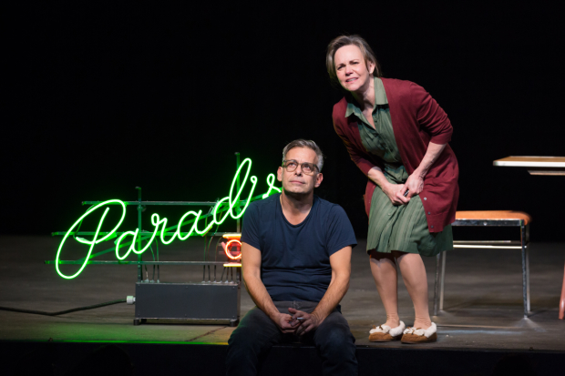 Joe Mantello and Sally Field star in Tennessee Williams' The Glass Menagerie, directed by Sam Gold, at Broadway's Belasco Theatre.