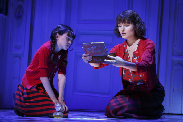 Savvy Crawford and Phillipa Soo in Amélie in its pre-Broadway production at Center Theatre Group/Ahmanson Theatre.