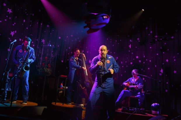 Vito Dieterle, Ian M. Riggs, Ethan Lipton, and Eben Levy appear in The Outer Space at Joe's Pub.