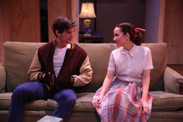 David T. Patterson and Hannah Elless in Transport Group's production of William Inge's Come Back, Little Sheba.