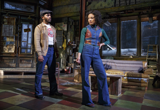 Patterson as Rena with André Holland as YoungBlood in a scene from Jitney.