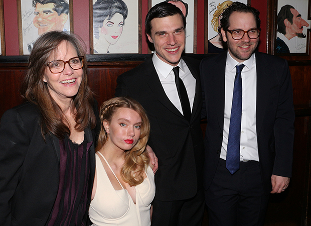 Sally Field, Madison Ferris, Finn Wittrock, and Sam Gold toast their opening night.