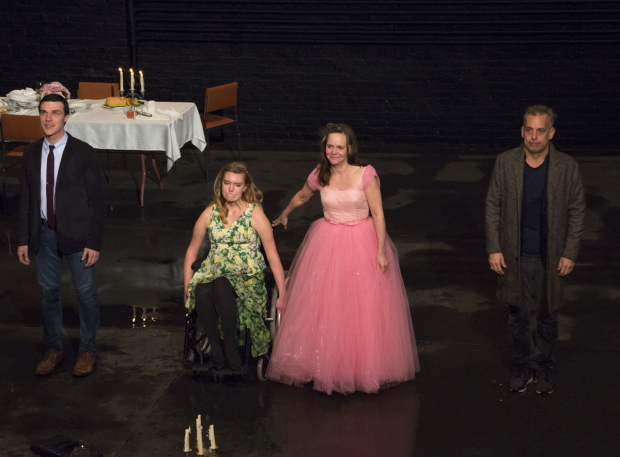 Finn Wittrock, Madison Ferris, Sally Field, and Joe Mantello take their bow as The Glass Menagerie opens on Broadway.