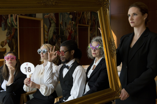 A scene from Bated Breath Theatre Company's Beneath the Gavel''.