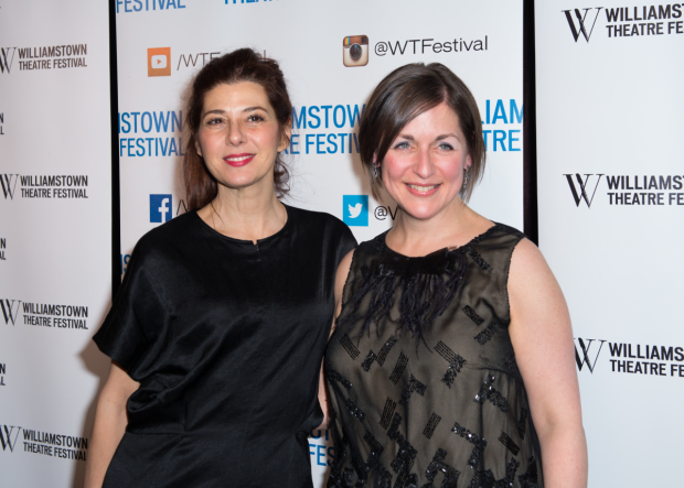 Marisa Tomei and and Mandy Greenfield at Williamstown Theatre Festival's annual gala.