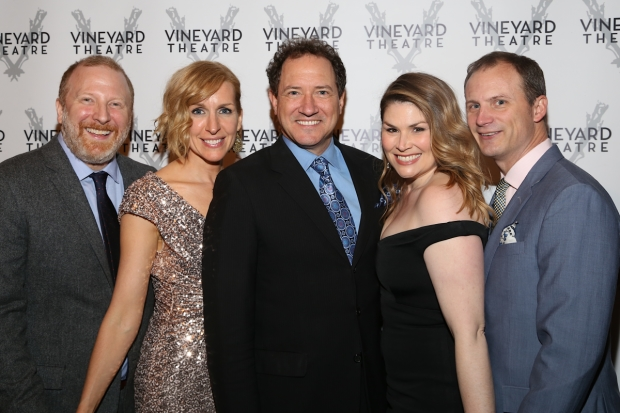 Hunter Bell, Susan Blackwell, Kevin McCollum, Heidi Blickenstaff and Jeff Bowen were all honored at Vineyard Theatre's annual gala.