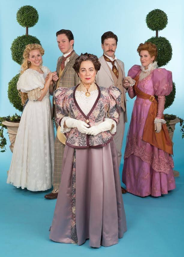 The cast of The Importance of Being Earnest, directed by Bob Carlton, at the Walnut Street Theatre.