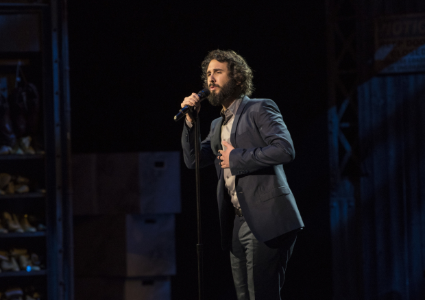 Josh Groban performs at 2017's Broadway Backwards concert.