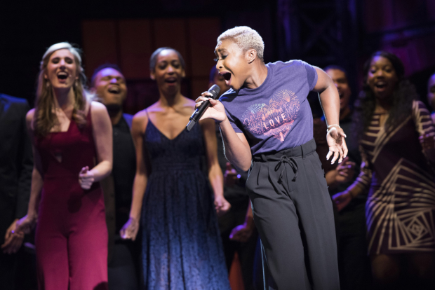 Tony winner Cynthia Erivo performs at Broadway Backwards.