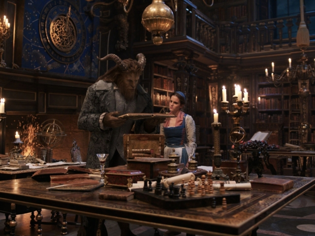 A promotional image from Disney's live-action Beauty and the Beast starring Dan Stevens and Emma Watson.