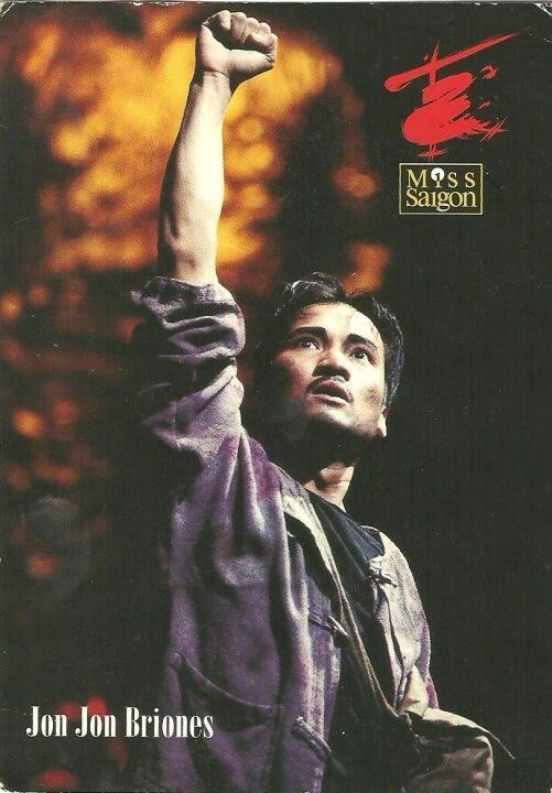 Jon Jon Briones as the Engineer in a 1994 German production of Miss Saigon.
