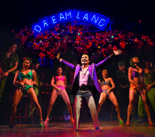 Jon Jon Briones as the Engineer in the 2014 London revival of Miss Saigon.