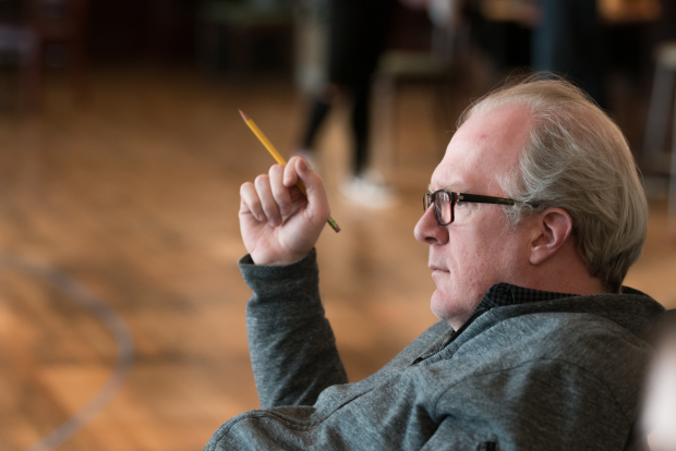 Pulitzer Prize and Tony Award winning playwright Tracy Letts' looks on during rehearsals for the world premiere production of Linda Vista.