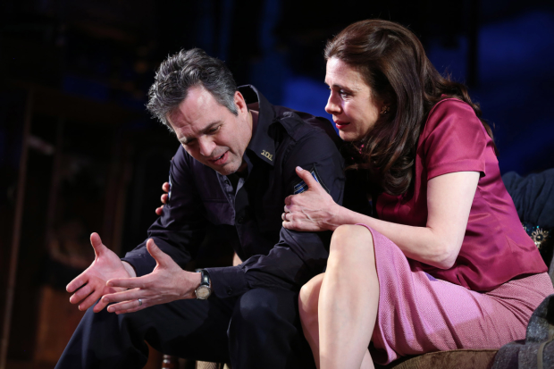 Mark Ruffalo plays a New York City policeman, and Jessica Hecht plays his wife in The Price on Broadway.