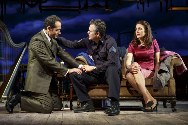 Tony Shalhoub, Mark Ruffalo, and Jessica Hecht star in The Price at the American Airline Theatre.