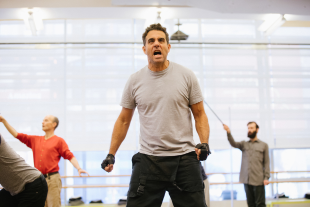 Bobby Cannavale rehearses for The Hairy Ape, directed by Richard Jones at Park Avenue Armory.