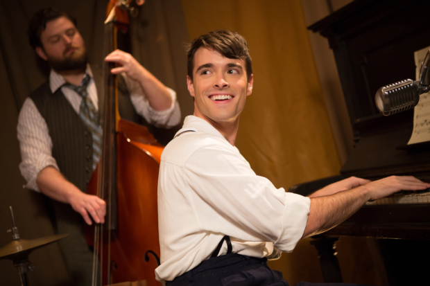 Corey Cott stars in Bandstand, directed by Andy Blankenbuehler, as the Bernard B. Jacobs Theatre.