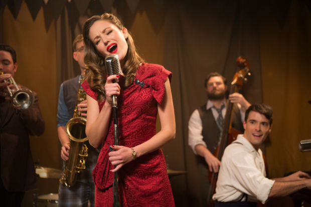 Laura Osnes and Corey Cott reprise their roles from the premiere production at Paper Mill Playhouse.