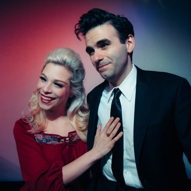Lauren Marcus and Joe Iconis star in the new cabaret Love Letter.