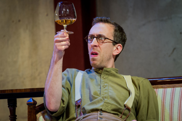 Steven Blakeley in the Park Theatre production of The Roundabout.