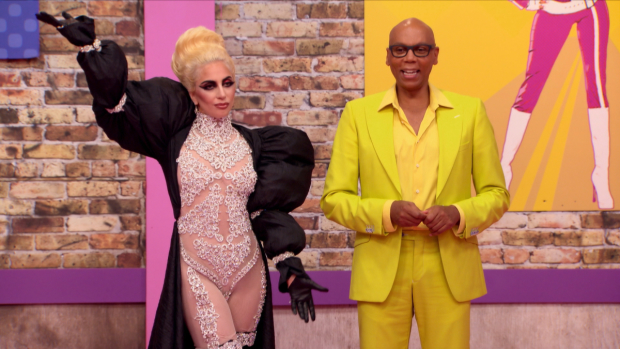 Lady Gaga and RuPaul appear on the season 9 premiere of RuPaul's Drag Race on VH1.