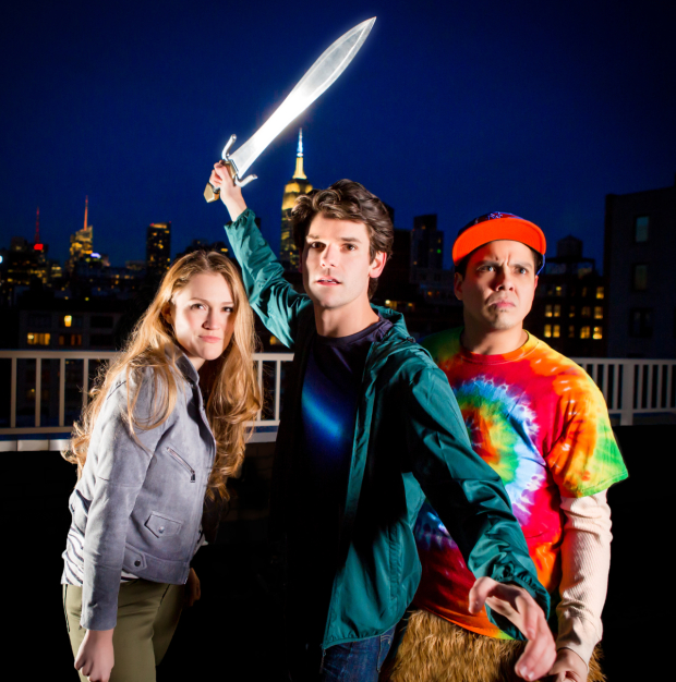 Kristin Stokes stars as Annabeth, Chris McCarrell as Percy and Geroge Salazar as Grover in The Lightning Thief: The Percy Jackson Musical, directed by Stephen Brackett.