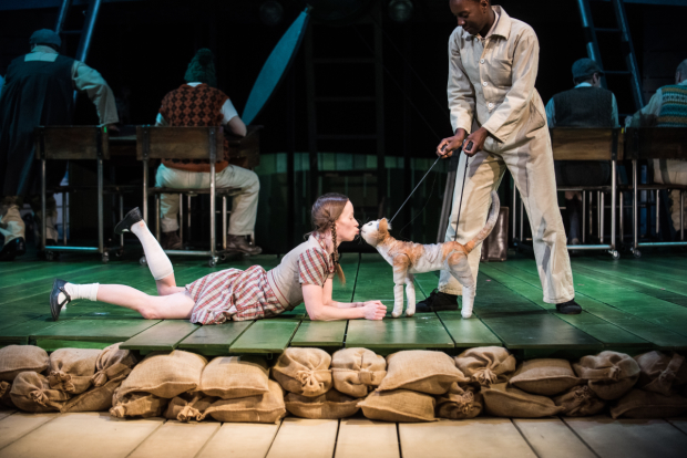 Katy Owen as Lily and Nandi Bhebhe as Tips in Kneehigh's 946: The Amazing Story of Adolphus Tips.