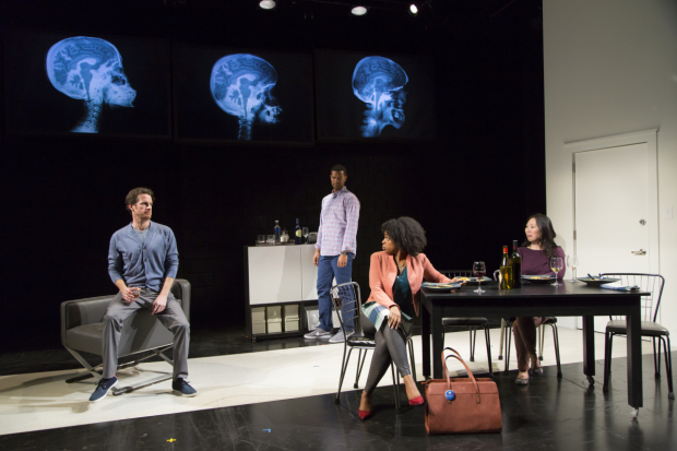 The cast of Smart People, directed by Desdemona Chiang: Peter O'Connor, Sullivan Jones, Tiffany Nichole Greene, and Ka-Ling Cheung.