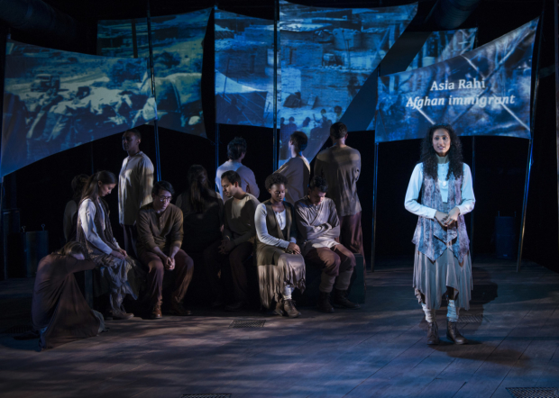 Rasika Ranganathan (right) stars in In to America, directed by Dorothy Milne, at The Den Theatre.