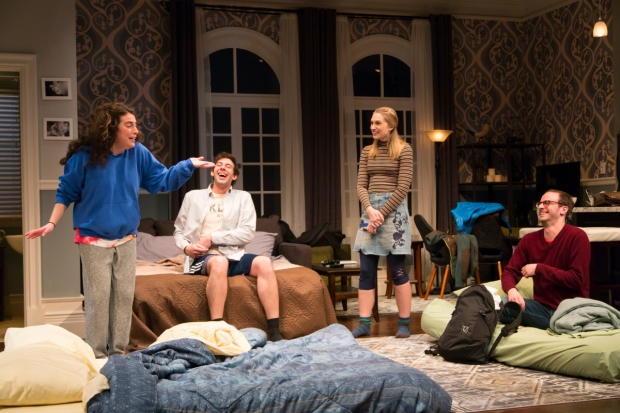 The cast of Bad Jews, directed by Jessica Stone, at George Street Playhouse.