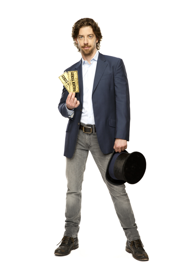 Christian Borle in a promotional image for Charlie and the Charlie Chocolate Factory.