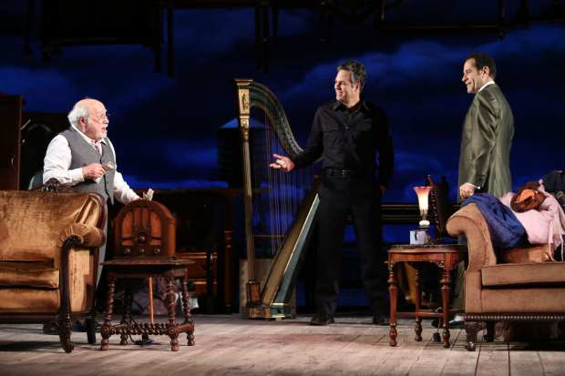 Danny Devito, Mark Ruffalo, and Tony Shalhoub in The Price, directed by Terry Kinney, now extended through May 14.
