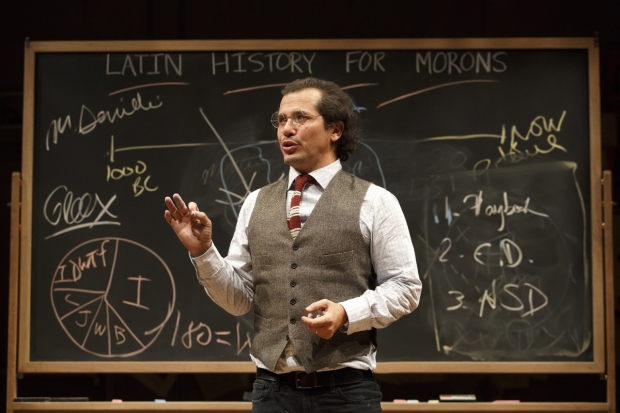 John Leguizamo stars in his solo show, Latin History for Morons, directed by Tony Taccone, at the Public Theater.