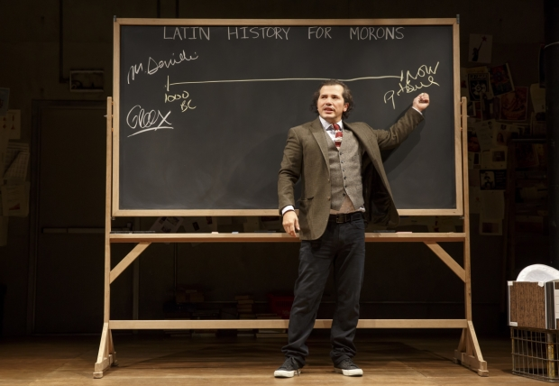 John Leguizamo draws a timeline from the Mayans to Pitbull in Latin History for Morons.