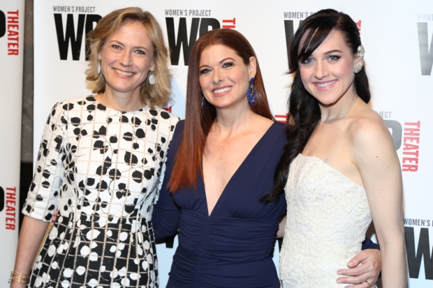 Ann Sarnoff and Debra Messing were honored at The Women's Project Gala, hosted by Lena Hall.