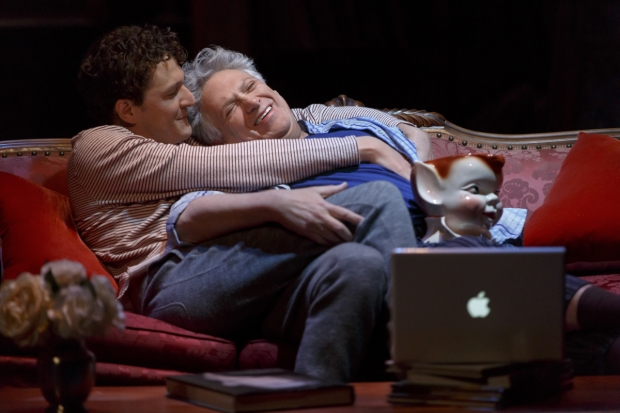 Gabriel Ebert and Harvey Fierstein star in Gently Down the Stream, directed by Sean Mathias at the Public Theater.