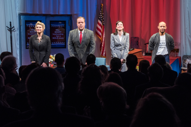 The cast of Church & State takes a bow at curtain call.