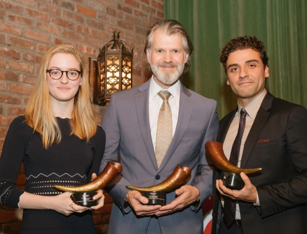 Olivia Reis, George Forbes, Oscar Isaac were honored with Matador Awards at Red Bull Theater's Running of the Red Bulls Gala Benefit.
