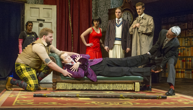 The Play That Goes Wrong celebrates its Broadway opening tonight at the Lyceum Theatre.