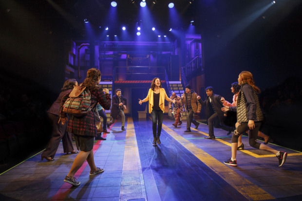 The Broadway cast of In Transit at Circle in the Square Theatre.