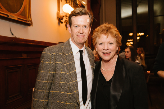 Dylan Baker came out to support spouse Becky Ann Baker who stars as Mildred's Aunt.