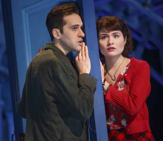 Adam Chanler-Berat and Phillipa Soo star on Broadway in Amélie.