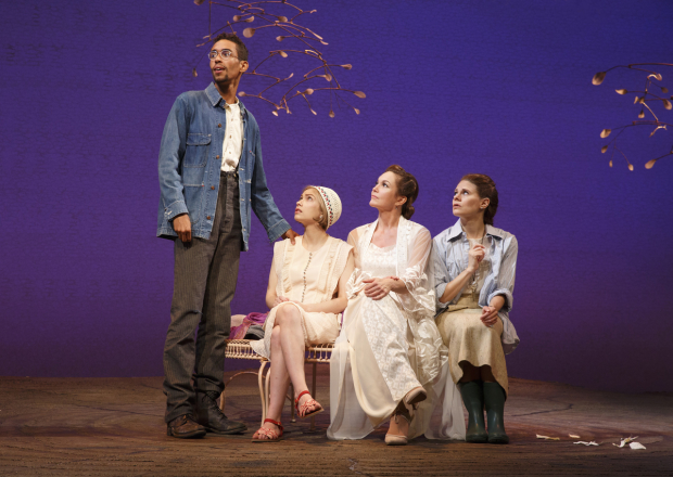 Kyle Beltran, Tavi Gevinson, Diane Lane, and Celia Keenan-Bolger starred in Anton Chekhov's The Cherry Orchard at Broadway's American Airlines Theatre.