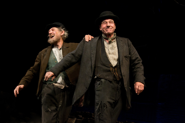 Ian McKellen and Patrick Stewart starred in the last Broadway revival of Samuel Beckett's Waiting for Godot at the Cort Theatre.