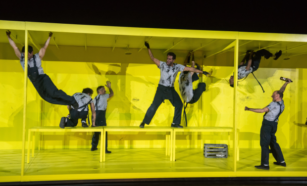 Bobby Cannavale (center) stars in Eugene O'Neill's The Hairy Ape, directed by Richard Jones, at the Park Avenue Armory.